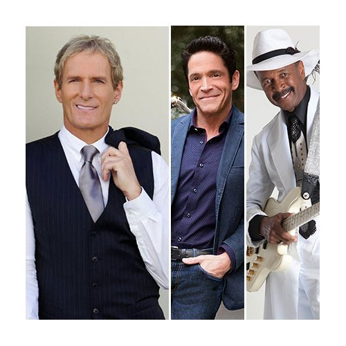 Michael Bolton, Dave Koz & Larry Graham at Wolf Trap